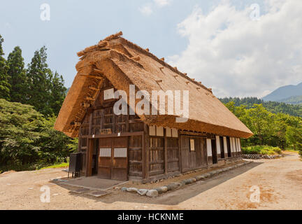Former Murase Tadamasa House (moved from Togano area, circa 19th c.) in Ogimachi gassho style village. UNESCO site - Stock Image
