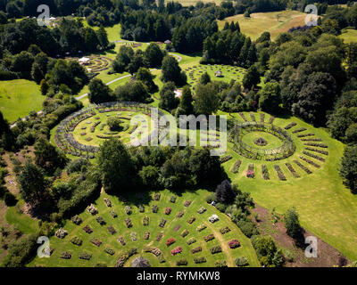 Rose Garden at Sir Thomas and Lady Dixon Park Belfast - Stock Image
