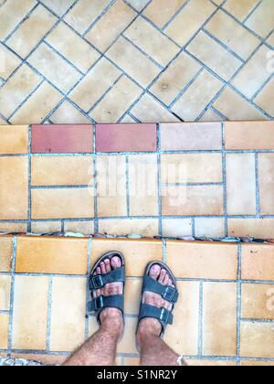 Summer holiday sandals - Stock Image