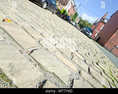 Cobbled Street Leeds West Yorkshire UK - Stock Image
