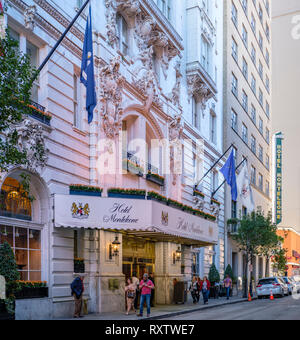 Panoramic image of Hotel Monteleone exterior, historic landmark, Beaux-Arts architectural style, New Orleans French Quarter, New Orleans, USA - Stock Image