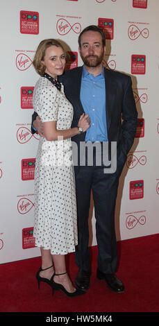 London, UK. 17 March 2017. Keeley Hawes and  Matthew Macfadyen arriving at the Broadcasting Press Guild Awards, - Stock Image