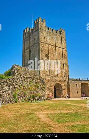 Richmond Castle keep, North Yorkshire, England - Stock Image