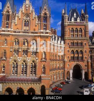 Former Midland Grand Hotel St Pancras Station London England - Stock Image