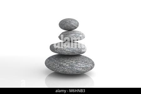 Zen stones stack - Copyspace - Stock Image