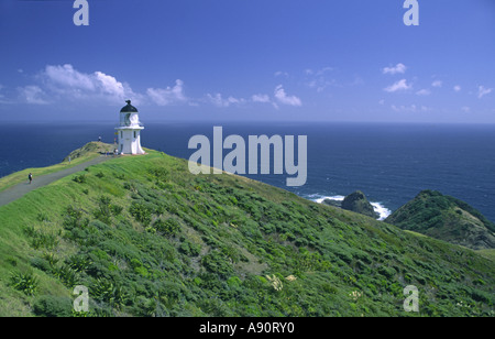 New Zealand Cape Reinga viewpoint lighthouse - Stock Image