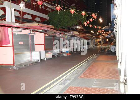 hawker stalls, chinatown, singapore - Stock Image