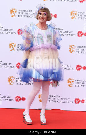 LONDON, UK. May 12, 2019: Grayson Perry arriving for the BAFTA TV Awards 2019 at the Royal Festival Hall, London. Picture: Steve Vas/Featureflash - Stock Image