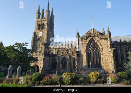 St John the Baptist church at Tideswell Derbyshire England UK - Stock Image