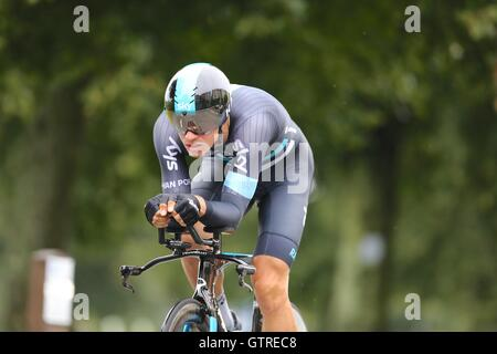 Bristol, UK.  10th September 2016. Tour of Britain stage 7a, time trial.  Danny Van Poppel of Team Sky Credit:  - Stock Image