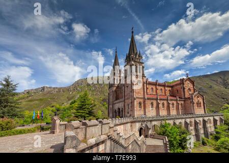 Basilica of Covadonga in Asturias, Spain. Image taken on May 6, 2019 - Stock Image