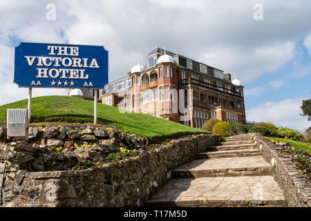 The Victoria Hotel, Sidmouth, Devon, UK - Stock Image