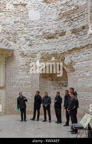 Traditional Dalmatian singers in Vestibule, Split, Croatia - Stock Image