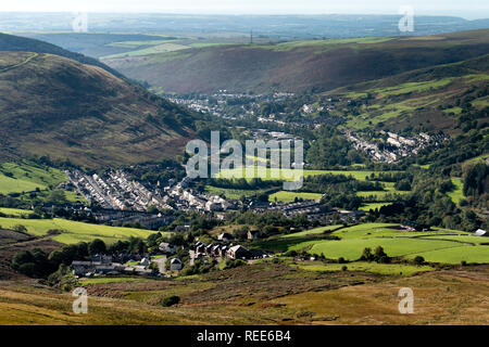 Price Town and Ogmore Vale Greater Ogmore Valley Bridgend Glamorgan Wales - Stock Image