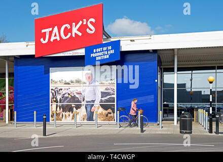 A branch of Jack's (part of Tesco) in Immingham, Lincolnshire, England UK - Stock Image