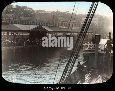Burns Philp & Company Ltd, Java Singapore Line terminus.      Date: circa 1900s - Stock Image