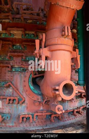 USA Alabama Birmingham The Sloss Furnaces now a National Historic Landmark once a pig iron plant - interior - Stock Image
