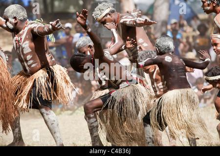 Australia, Queensland, Laura. Indigenous dance troupe at the Laura Aboriginal Dance Festival. - Stock Image