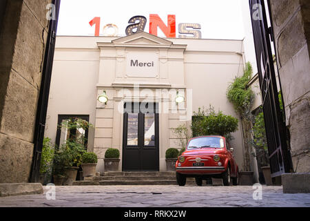 Entrance to the Merci concept ctore in the Marais district of Paris, France. - Stock Image