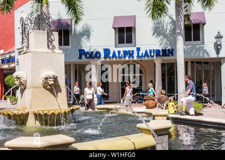 Naples Florida Estero Miromar Outlets retail mall brand designer discount Polo Ralph Lauren store business shopping man woman gi - Stock Image