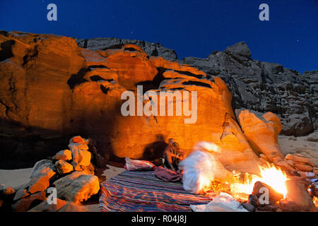Night in Desert. Nuweiba. Egypt - Stock Image