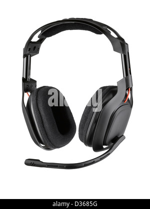 A pair of chunky gaming headphones - Stock Image