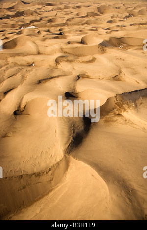 Aerial landscape of sand dunes in Great Sand Dunes National Park Colorado - Stock Image
