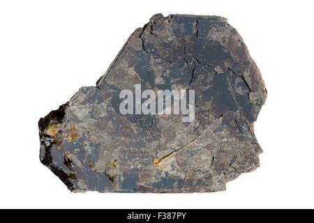 Biotite (dark iron-rich mica) - Stock Image