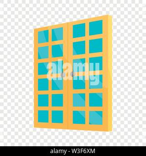 Double room door icon, cartoon style - Stock Image