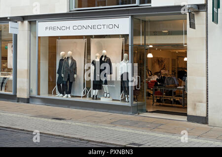French Connection shop store Davygate York North Yorkshire England UK United Kingdom GB Great Britain - Stock Image