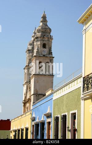 Cathedral of Nuestra Senora de la Concepcion, Campeche, Yucatan Peninsular, Mexico. - Stock Image