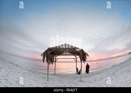 Bedouin Camp in Nuweiba - Taba Road. South Sinai. Egypt - Stock Image