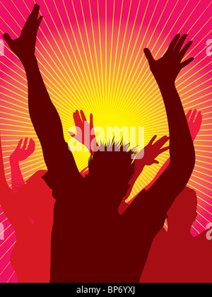 Party people dancing - Stock Image