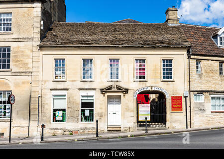 The entrance to the Old Baptist chapel in Bradford on Avon Wiltshire - Stock Image