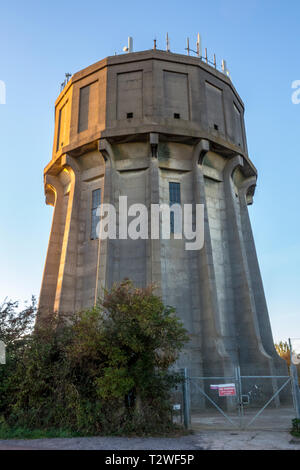 Langford Water Tower, Concrete Water Tower, Bedfordshire, UK - Stock Image