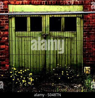 Old Garage Doors - Stock Image