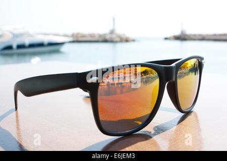 Sunglasses Reflection - Stock Image