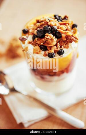 breakfast, parfait - Stock Image