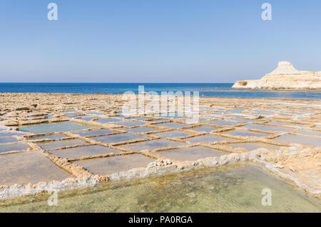 Coastline of Gozo Island - Malta - Stock Image