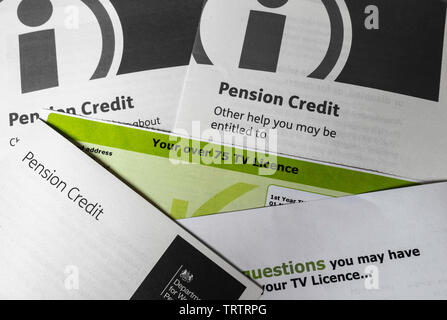 Over 75 TV licence. BBC to end free TV licences for over 75s. - Stock Image