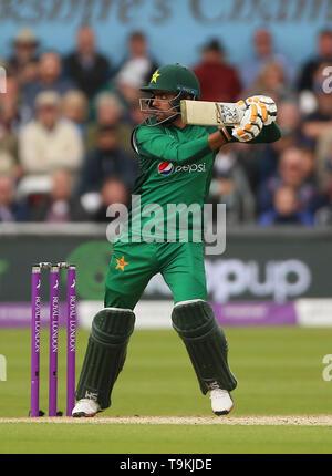 England's Babar Azam during the One Day International match at Emerald Headingley, Leeds. - Stock Image