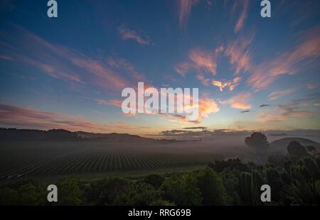 Dawn at Napier, North Island, New Zealand. - Stock Image