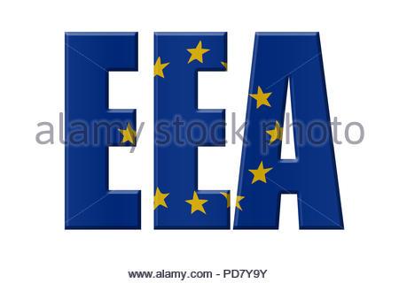 Digital Illustration - EU agency. EEA European Environment Agency, Europäische Umweltagentur, Europees Milieuagentschap - Stock Image