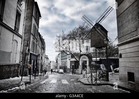 Moulin de la Galette in Montmartre, Paris, France - Stock Image