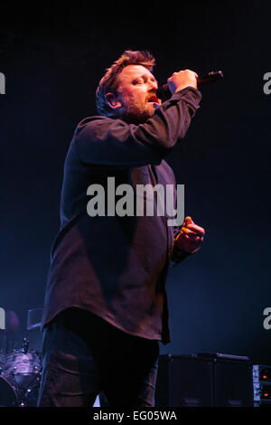 London, UK. 11th Feb 2015. Guy Garvey lead singer of Elbow, Live Performance at Hammersmith Eventim. Credit:  Robert - Stock Image