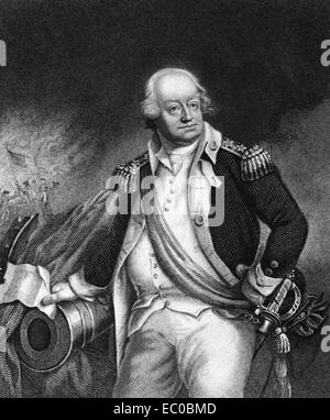 Benjamin Lincoln (1732-1810) on engraving from 1835. American army officer. - Stock Image