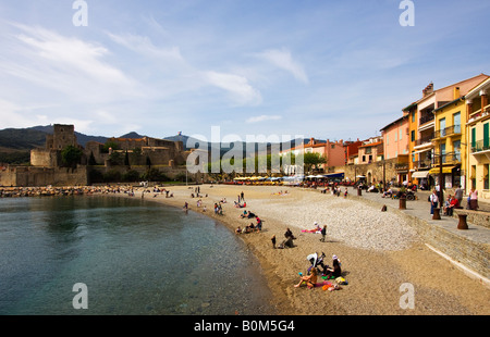 charming seaport village of Collioure France - Stock Image