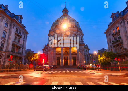 Marble Church in Copenhagen, Denmark. - Stock Image