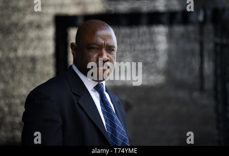 Brighton UK 4th May 2019 - Christopher Tajah performing Dream of a King about legendary civil rights leader Martin Luther King at the Brighton Festival Fringe 'Streets of Brighton' event in the city centre on the opening day. Credit: Simon Dack / Alamy Live News - Stock Image
