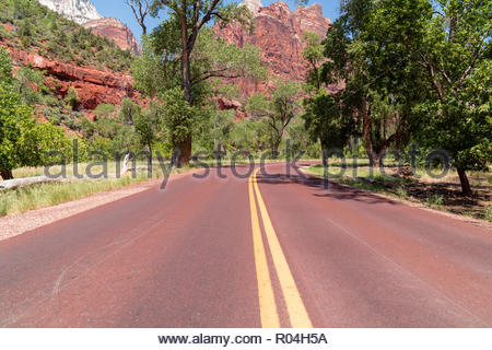Zion National Park Road, USA - Stock Image